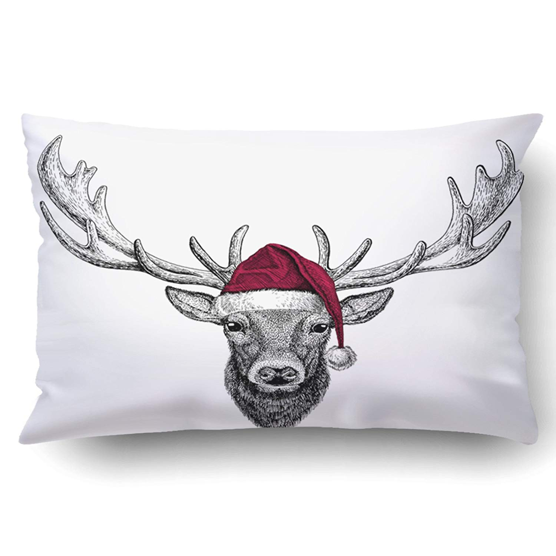 Artjia Xmas Deer Christmas Illustration Wild Animal