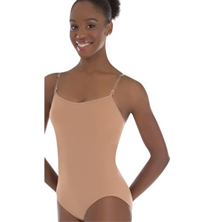 Body Wrappers Padded Bust Versatile Halter/Tank Leotard, Nude, Medium (Body Wrappers Leotard)