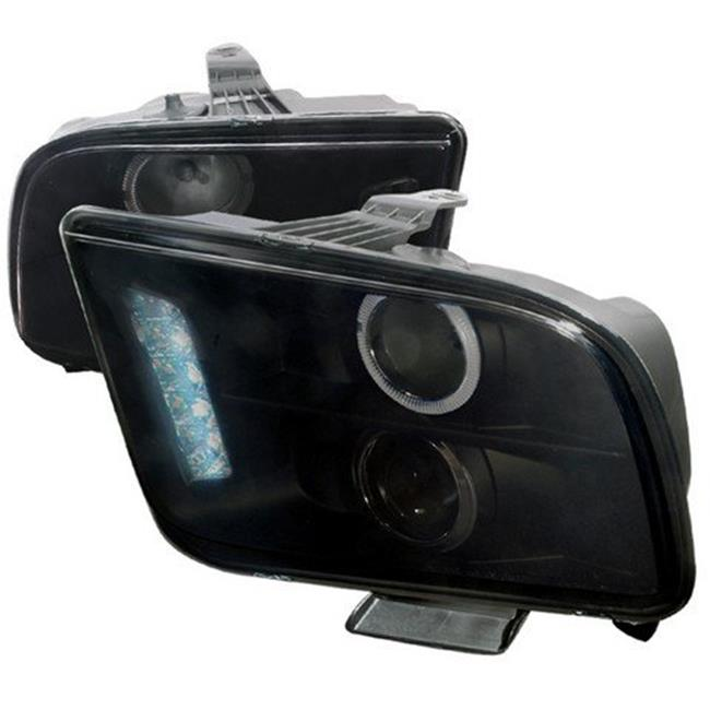 Halo LED Projector Headlight for 05 to 09 Ford Mustang, Smoke - 11 x 18 x 25 in. - image 1 of 1