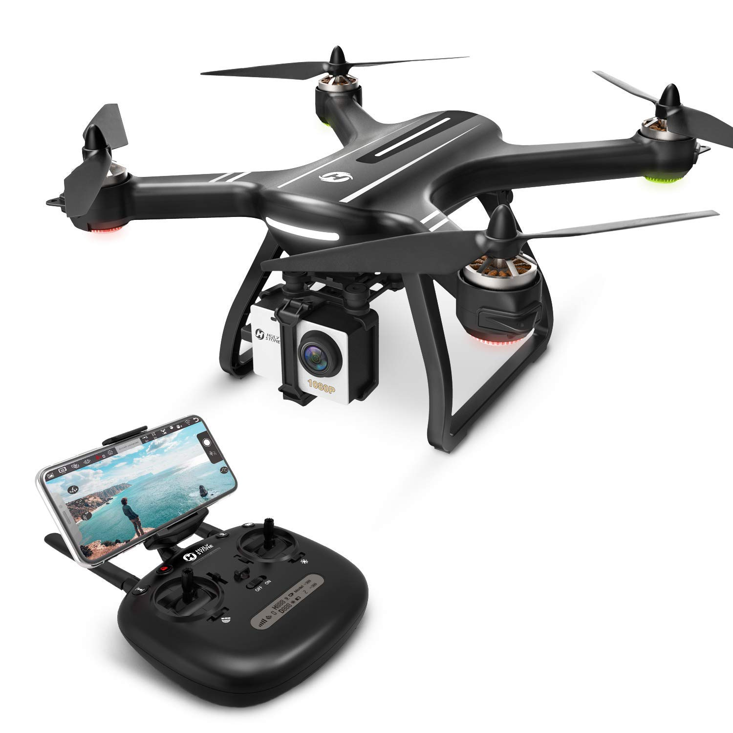 Click here to buy Holy Stone HS700 GPS Drone Brushless Motor 1080p HD Camera Live Video GPS Return Home, Follow Me, RC... by Holy Stone.