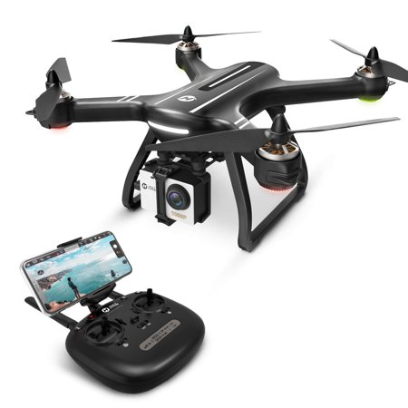 Holy Stone HS700 GPS Drone with 1080p HD Camera and Video GPS Return Home, Follow Me, RC Quadcopter Adults Beginners Brushless Motor, 5G WiFi Transmission, Compatible GoPro Camera Color (Best Cheap Quadcopter With Hd Camera)