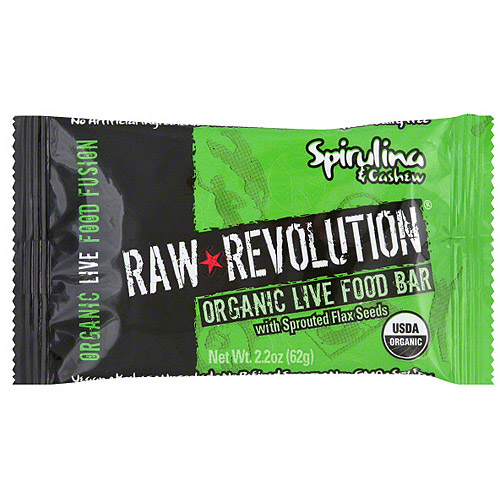 Raw Revolution Spirulina & Cashew Food Bar, 1.8 oz (Pack of 12)