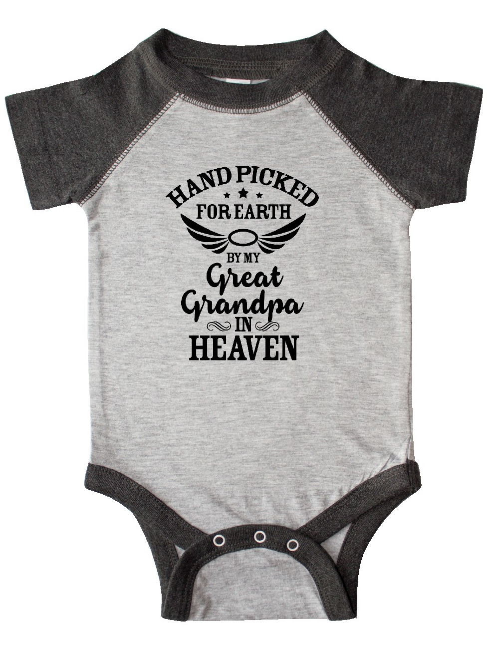 Inktastic Handpicked for Earth By My Grandpa in Heaven Angel Newborn Layette