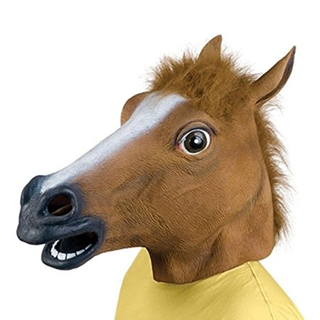 Halloween Horse Head Mask Latex Animal Party Costume Cosplay Prop Unicorn Zoo Toys for $<!---->