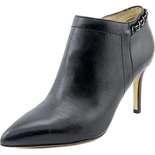 Carolina Espinosa Women's Banks Bootie, Black Leather, 8 M US by Carolina Espinosa