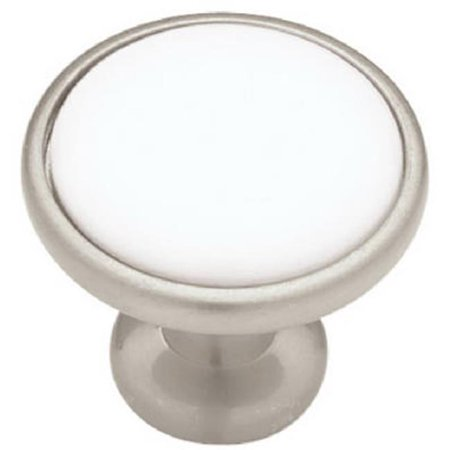Liberty Hardware P50162V-SNW-C7 Ceramic White Insert Knob - 1.25 in. - image 1 de 1