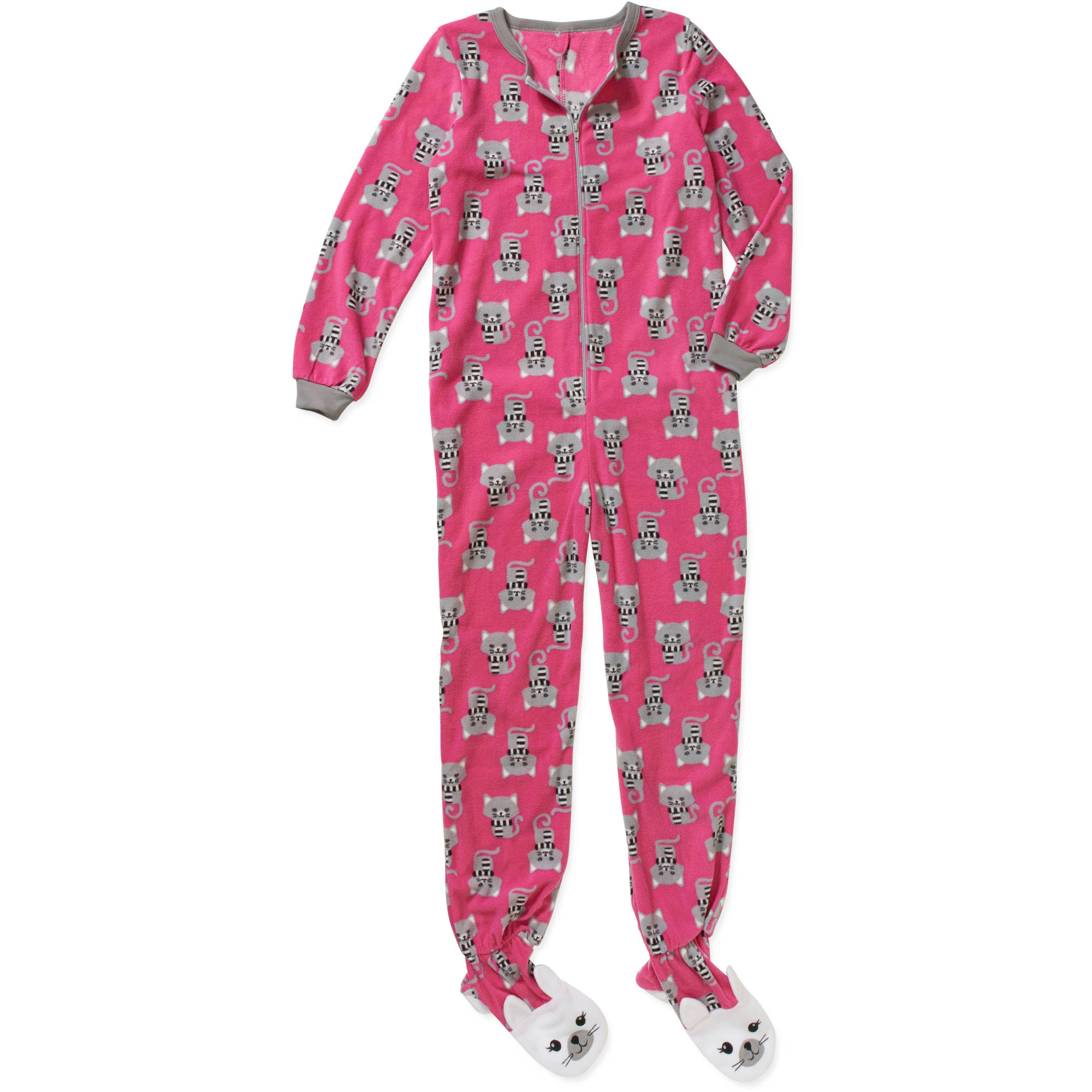 Girls' Fleece Pajama Footed Sleeper - Walmart.com