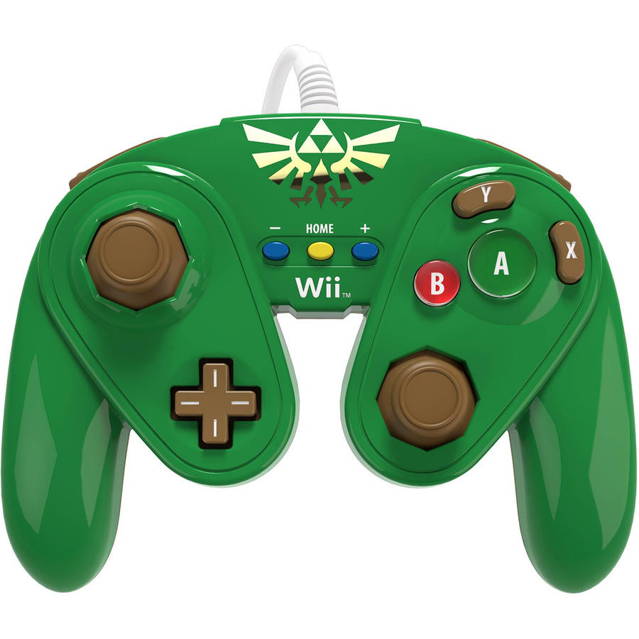Nintendo 085-006-LK Wired Controller, Link (Wii U) by PDP
