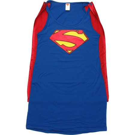 Superman New 52 Caped Tank Top Dress - Man Of Steel Dress