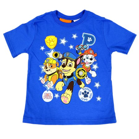 Paw Patrol Boys Group Stars T Shirt Nautical Blue