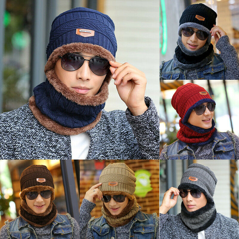 Outdoor Ski Men Women Crochet Knit Baggy Beanie Wool Hat Winter Warm Skull Cap
