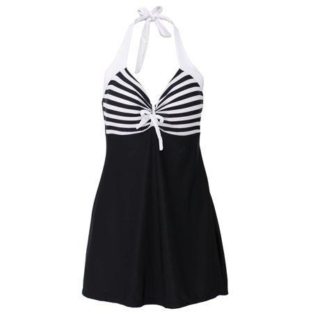 6e87f125bcf1d Simplicity - Simplicity One Piece Halter Sailor Swimsuit Cover Up  Swimdress