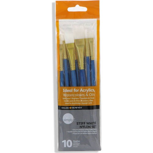 Simply Brown Nylon 10-Piece Detail Brush Set  Available In Multiple Colors