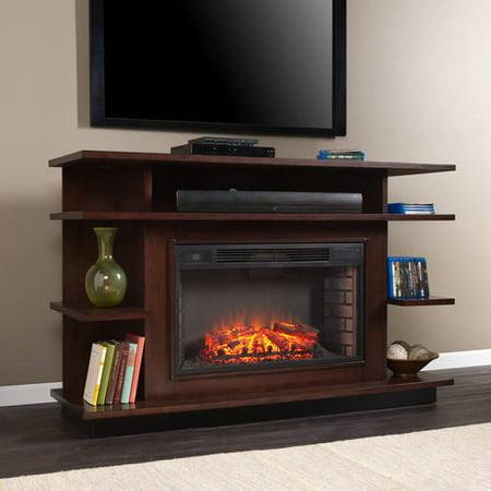 Southern Enterprise Rhodes Electric Fireplace Media Console Tvs Espresso Ebony Stain