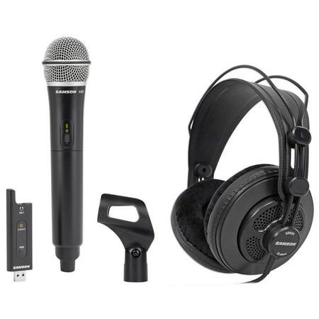 samson wireless usb podcast podcasting recording microphone mic clip headphones. Black Bedroom Furniture Sets. Home Design Ideas