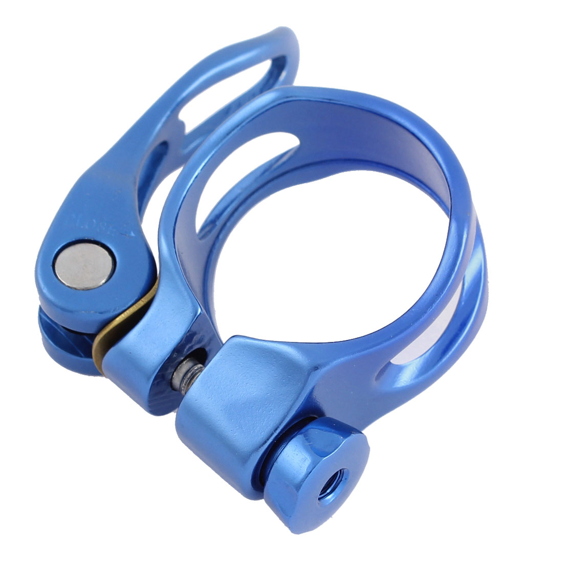 Authorized by LF 34.9mm Quick Release Mountain Bike Bicycle Seat Post Clamp Blue