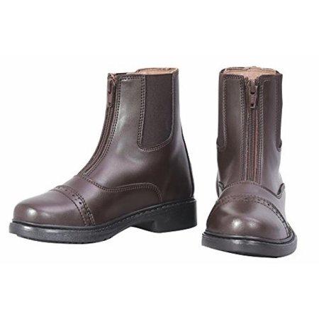 Childs Zip Paddock Boot - TuffRider Children's Starter Front Zip Paddock Boots, Mocha, 8