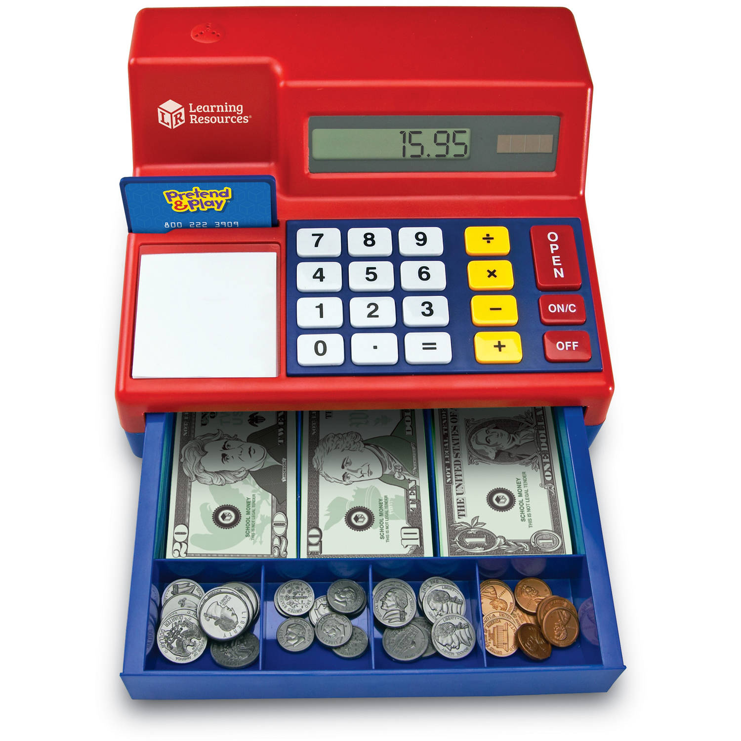 learning resources pretend and play calculator cash register learning resources pretend and play calculator cash register com