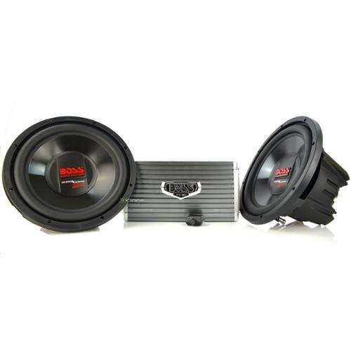 """2) Boss Cx124Dvc 12"""" 3000W Car Subwoofers Subs + Ar16002 2 Channel Amplifier Amp"""