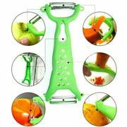 CableVantage Kitchen Tools Gadgets Vegetable Fruit Peeler Parer Julienne Cutter Slicer Green