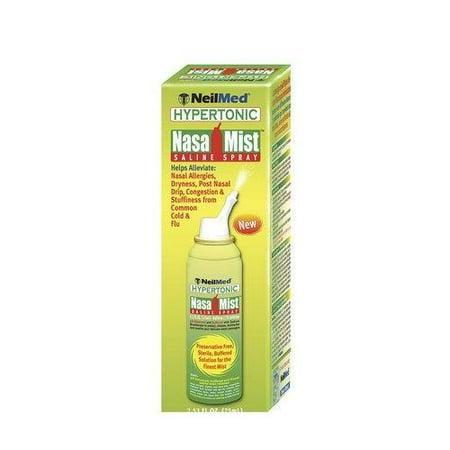 4 Pack - NeilMed Hypertonic NasaMist Saline Spray 4.20oz Each