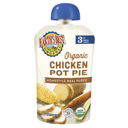 Earth's Best Organic Stage 3 Baby Food, Chicken Pot Pie, 3.5 oz.
