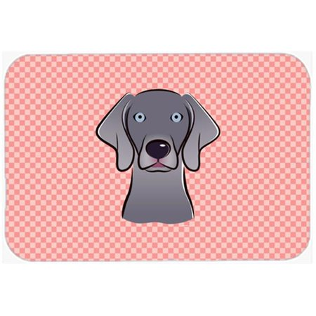 Carolines Treasures BB1231MP Checkerboard Blue Weimaraner Mouse Pad, Hot Pad Or Trivet, 7.75 x 9.25 In. - image 1 of 1
