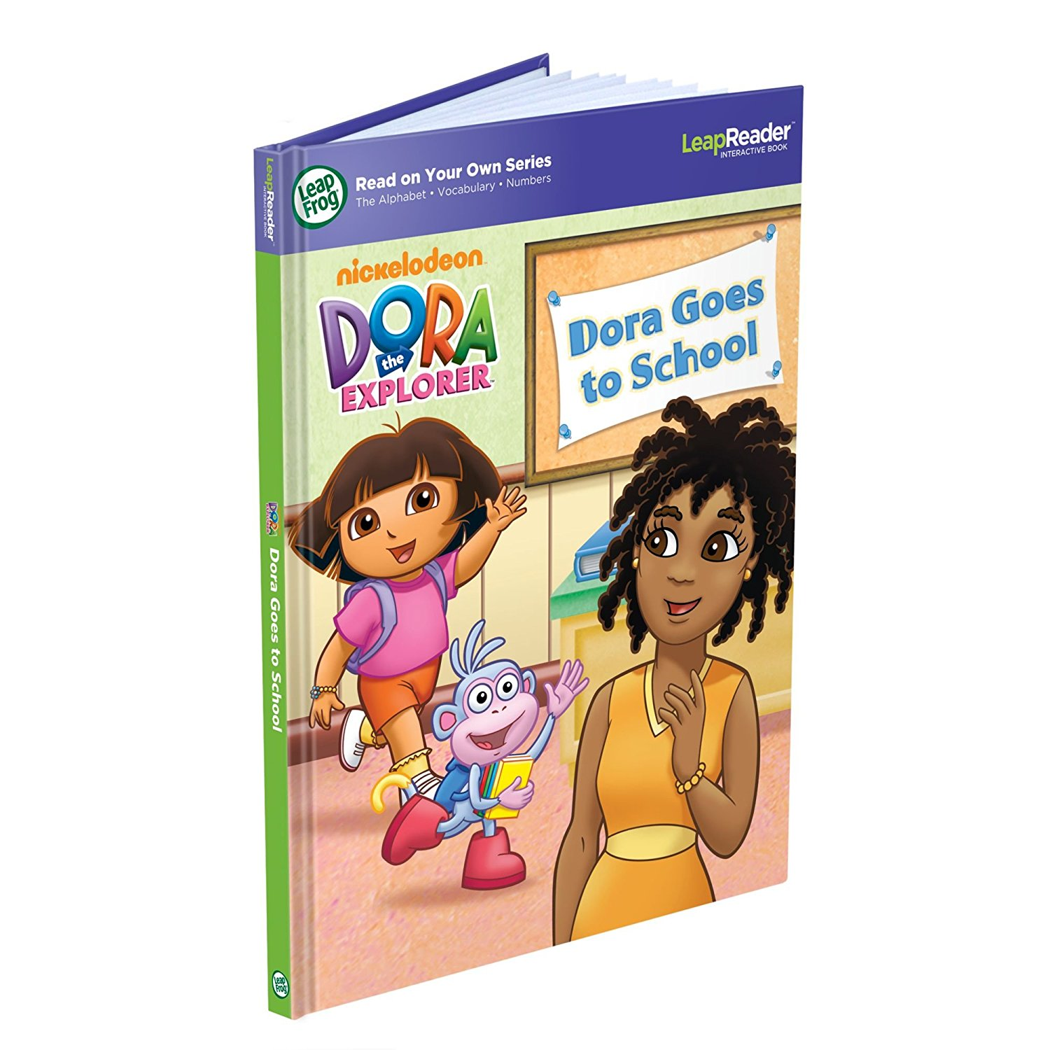 LeapReader Book: Dora Goes to School (works with Tag), �Vámonos! Join Dora in a bilingual... by