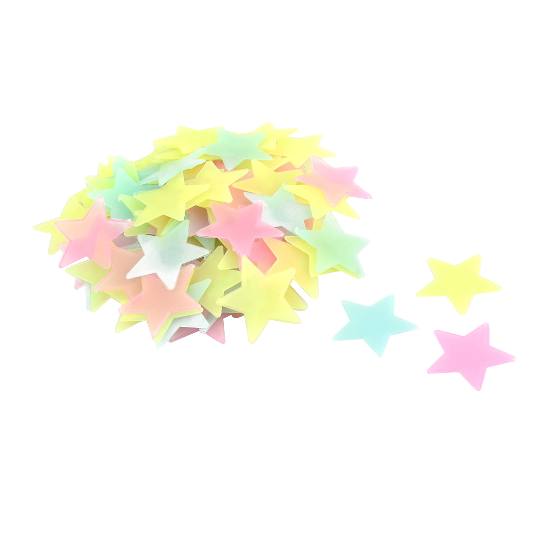 PVC Star Shaped Decor Glow in the Dark Wall Sticker Decal Assorted ...