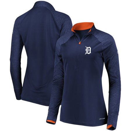 on sale 36413 eb3b4 Detroit Tigers Majestic Women's Extremely Clear Cool Base Raglan 1/2-Zip  Jacket - Navy