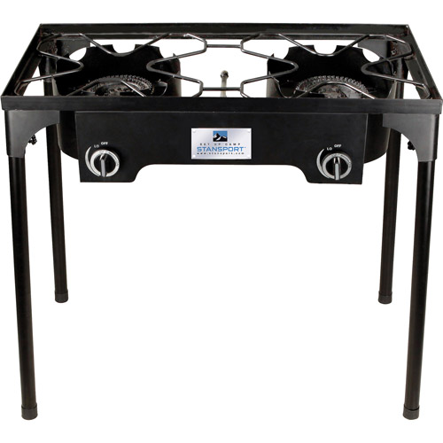 Stansport 2 Burner Cast Iron Stove with Stand