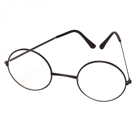 c9c6863be5 Cp Usa Lennon or Wizard Black Metal Wire Round Glasses Great Halloween  Accessory - Walmart.com