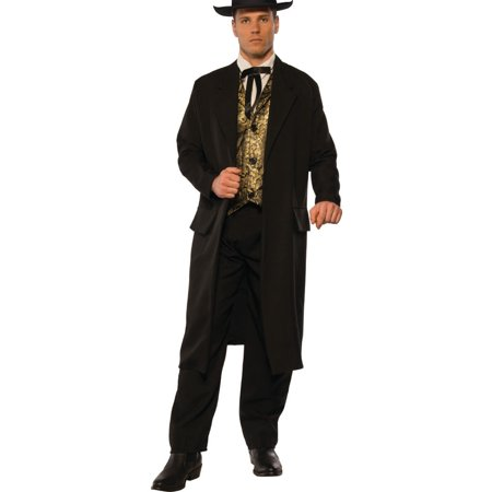 Men's Western Hustler Bar Gambler Swindler Outlaw Costume