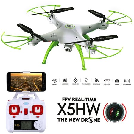 - Generic Syma X5HW FPV 2.4Ghz 4CH RC Headless Quadcopter Drone UFO with Hover Function HD Wifi Camera White
