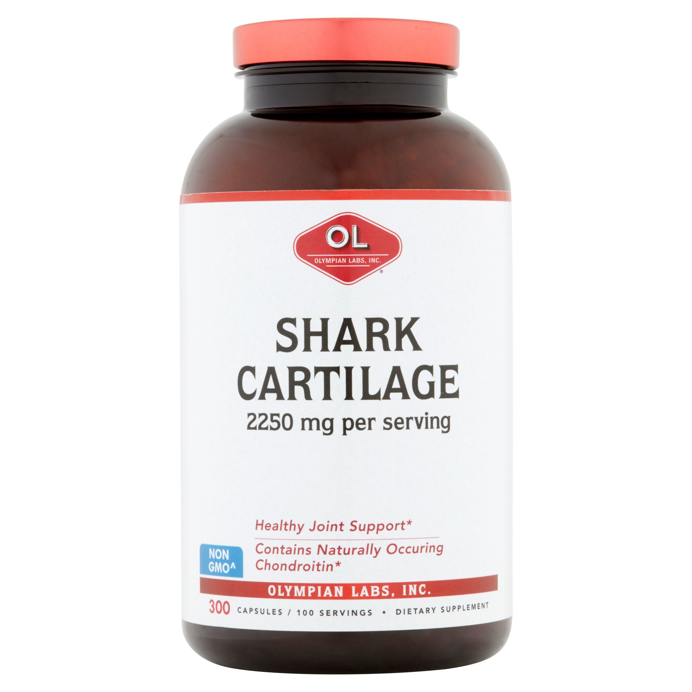 Olympian Labs Shark Cartilage, 2250 mg Capsules, 300 count
