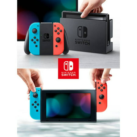 Nintendo Switch Console with Neon Blue & Red Joy Con HACSKABAA