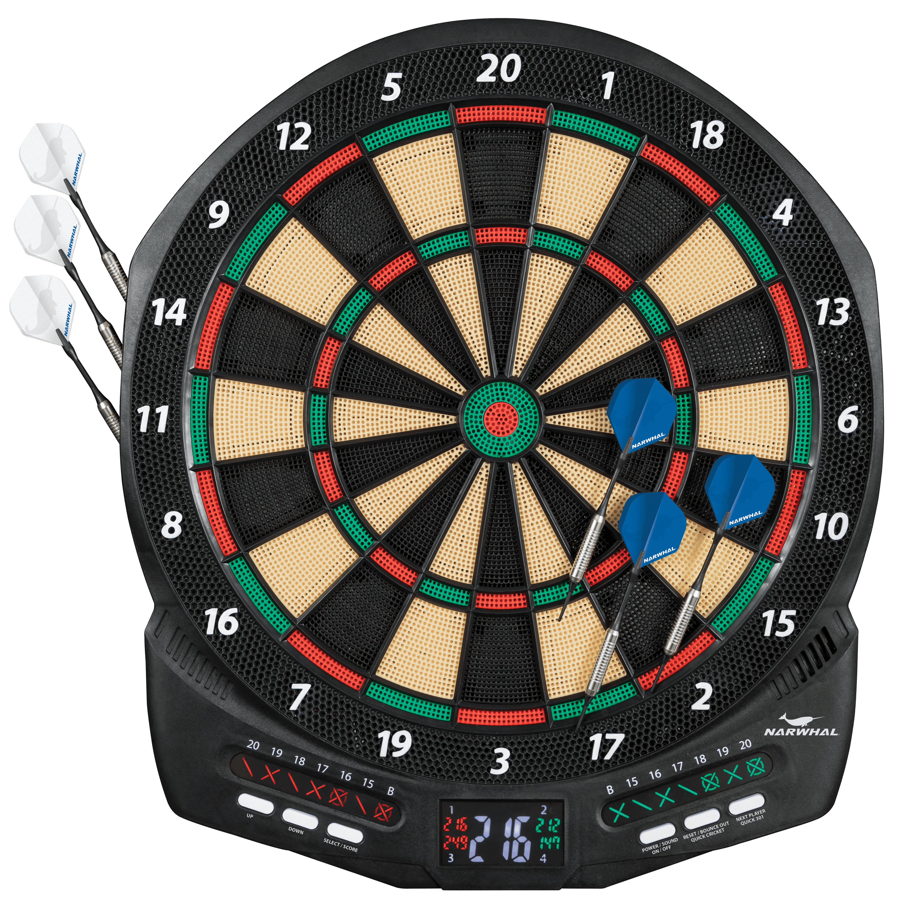 Narwhal Diablo Electronic Dartboard Set With Cricket Scoring