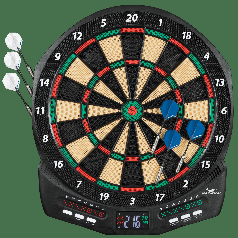 Narwhal Diablo Electronic Dartboard Set with Cricket Scoring