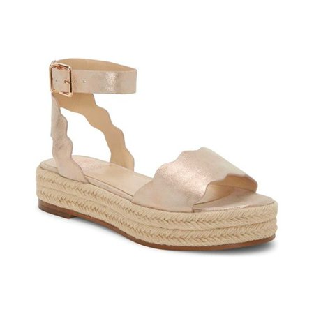 Women's Vince Camuto Kamperla Ankle Strap Espadrille Ankle Strap Leather Wedges