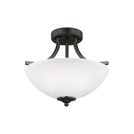 Sea Gull Lighting Geary 7716502 Semi Flush Convertible Pendant Light ()