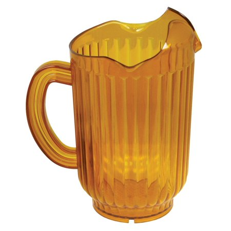 Winco Polycarbonate Water Pitcher with 3 Spouts, 60-Ounce, - Amber Pitcher