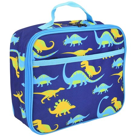 Kids Lunchbox with Cute Boys & Girls Themed Graphics Double Stitch with Front Pocket Insulated Cooler for Child (Dinosaur - Dino Lunch