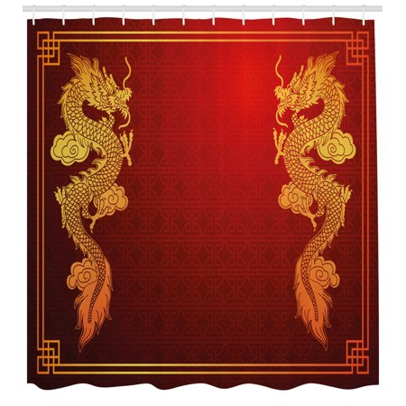 Dragon Shower Curtain Chinese Heritage Historical Asian