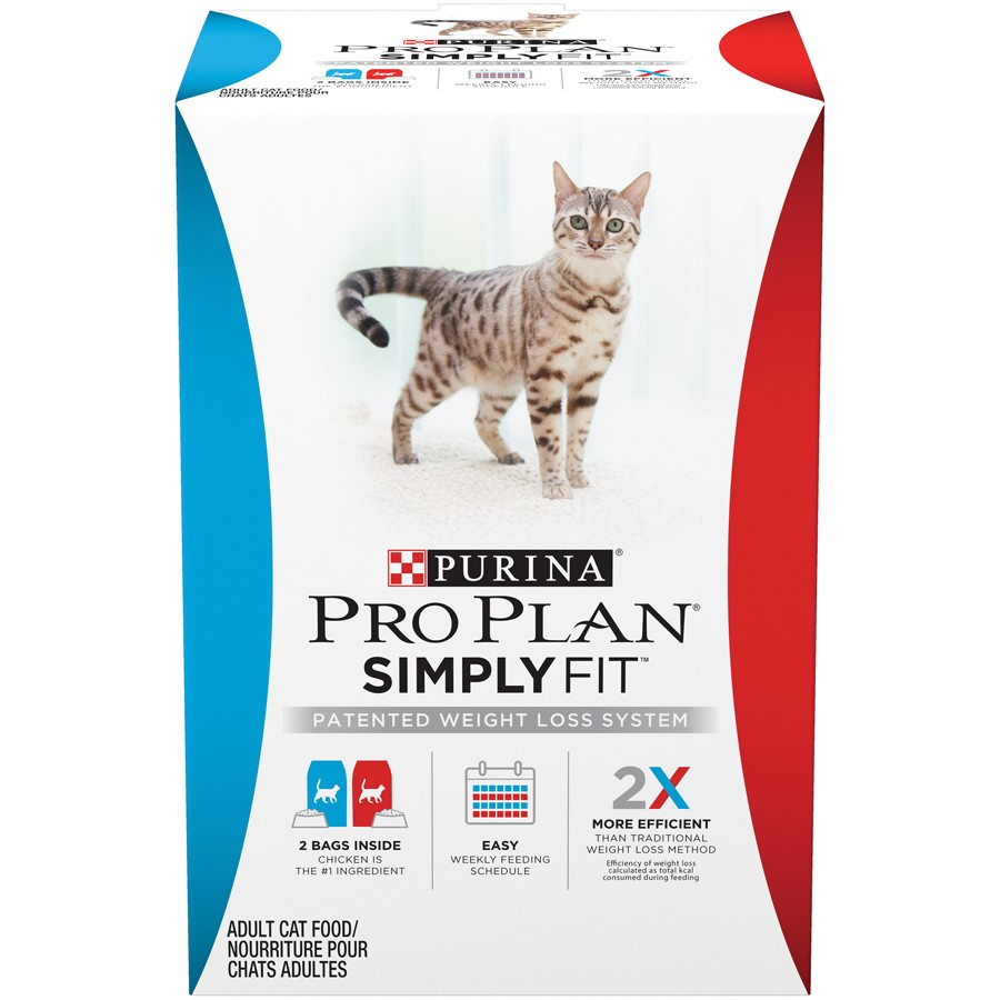 Purina Pro Plan SIMPLY FIT Patented Weight Loss System Adult Dry Cat Food - 6 lb. Bag