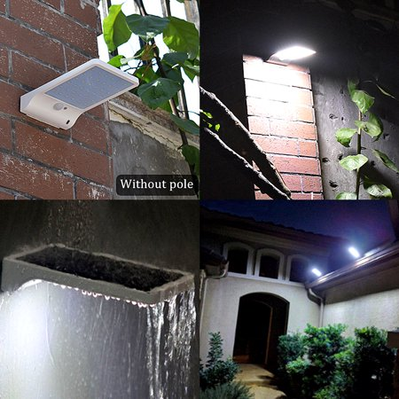 48 LED Solar Lights Outdoor, Motion Sensor Solar Wall Light with Remote Control and 7 Adjustable Color Temperatures (Cool + Warm White)