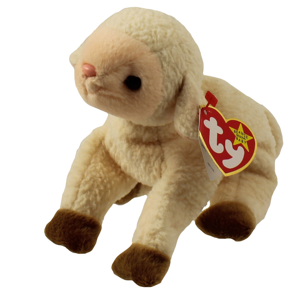 TY Beanie Baby - EWEY the Lamb (5.5 inch)