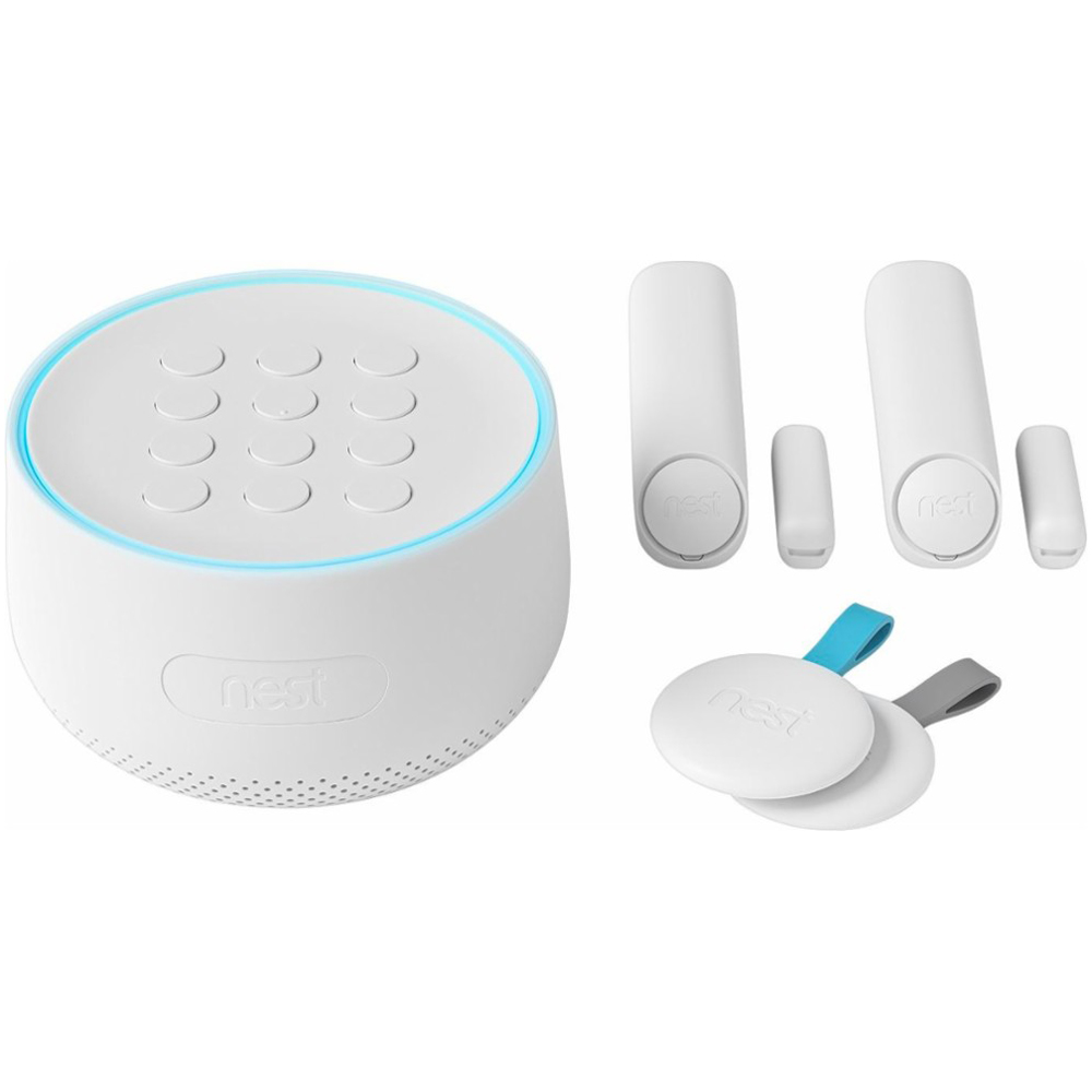 Nest Secure Alarm System Starter Pack with 2 Detect Sensors & 2 Tags