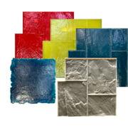 5 Ashlar Concrete Stamp Set. Slate Cement Texture Imprint Stamp Mats SM 3002