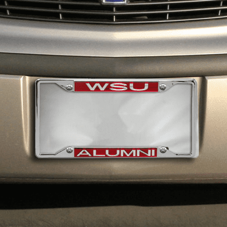 Washington State Cougars Alumni Acrylic Insert Chrome License Plate Frame - No Size