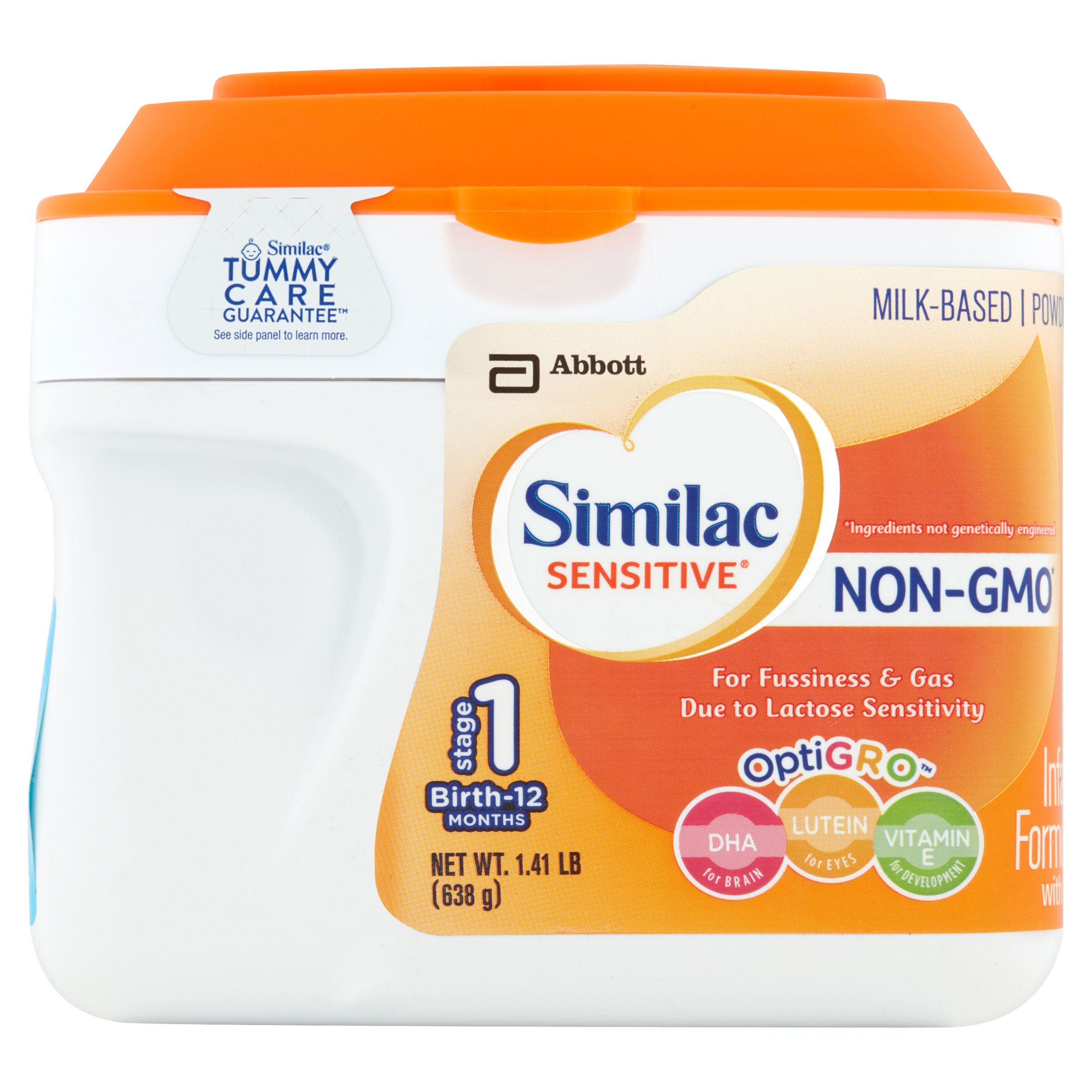 Similac Sensitive NON-GMO Milk-Based Infant Formula with Iron, Powder, 1.41 lb